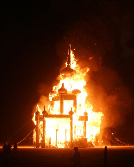 Temple Burn at Burning Man 2003