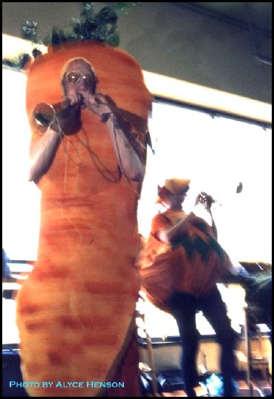 carrot and pumkin horn section