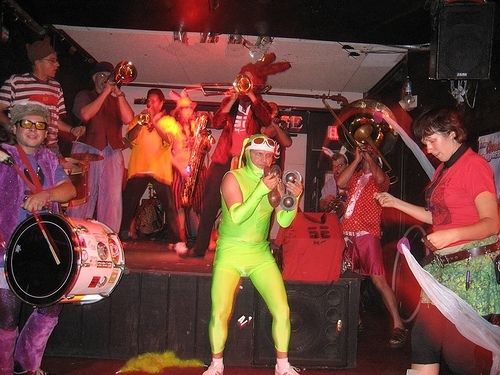 dayglo bunny drummer costume snare drum