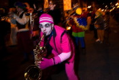 chicago halloween parade marching band 2009